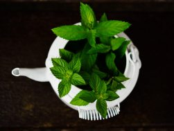 Peppermint plants can be used to ease nausea and other digestive problems, or use the leaves to soothe sore muscles.
